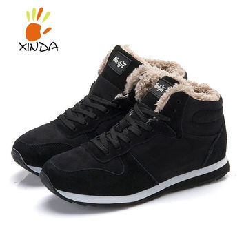 Men Women Winter Snow Boots keep Warm Boots Plush Ankle boot Snow Work Shoes Men's Women's Outdoor Snow Boots 36-47