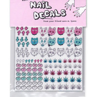 Sara M. Lyons Nail Decals- 3 Bad Kitties