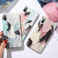 KISSCASE 3D Dye Luminous Phone Case For iPhone 7 7 Plus Fashion Hard Fundas Capa Back Cover For iPhone X XR 8 7 6 S XS Max Cases
