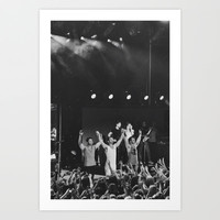 Jonas Brothers at Chastain Park Amphitheater  Art Print by Haley Nicole