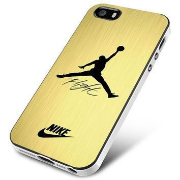 Air Jordan Flight Signature Nike Gold iPhone 5 | 5S | 5SE Case Planetscase.com