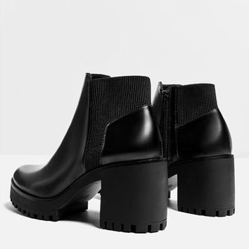 TRACK SOLE HEELED ANKLE BOOT - View all-SHOES-WOMAN | ZARA United States