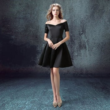 Black Short dress/Prom Dress/ wedding Dress/ Evening Dress/ Bridesmaid Dress. Skirt/ Black Skirt