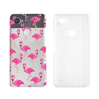Cute Summer Flamingo Pattern Phone Case For Google Phone Pixel 2 Google Phone Covers Emerishop (NLA332)