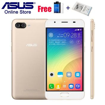 "ASUS ZenFone 4 Max Smartphones Pegasus 4A ZB500TL ZenUI 4.0 Mobile Phone 32GB Android 7.0 5.0"" 4100mAh 4G LTE Dual Back Cameras"