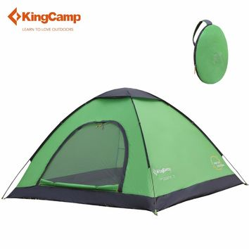 KingCamp MODENA 3 Pop-Up Dome Tent outdoor camping tent family Lightweight 3 tent free shipping Tents for outdoor recreation