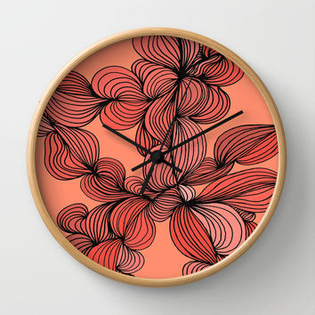 Retro Orange Wall Clock by DuckyB (Brandi)