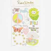 Rosie Wonders Temporary Tattoos Peace & Love