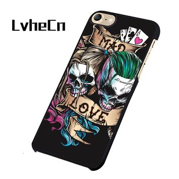 Joker and Harley Quinn Mad Love phone case cover for iphone 5 5S SE 6 6S 7 8 PLUS X