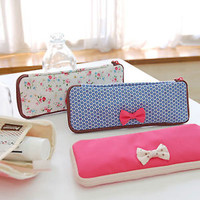 Korean Fancy Design Multipurpose Pouch, Petite Fabric Pen/Pencil Case