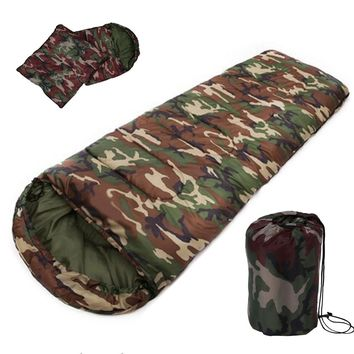 High quality Cotton Camping sleeping bag,15~5degree,  camouflage sleeping bags