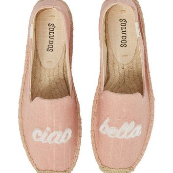SOLUDOS Espadrille Slip-On Ciao Bella Dusty Rose $69
