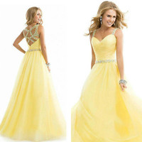 Sexy Women Evening Party Maxi Dress Ball Prom Gown Formal Off Shoulder Pleated Long Dress