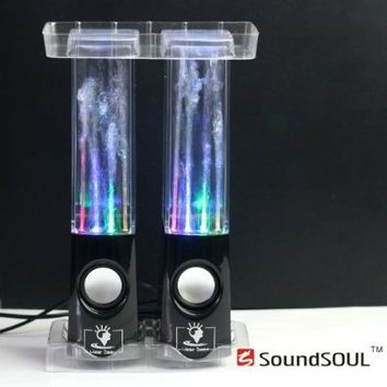 Soundsoul Music Fountain Mini Amplifier Dancing Water Speakers I-station7 Apple Speakers (black, water speaker)
