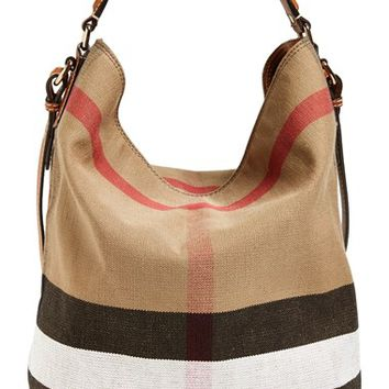 Burberry Brit 'Medium Susanna' Check Print Bucket Bag