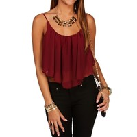Ruby Shirt Tail Crop Tank