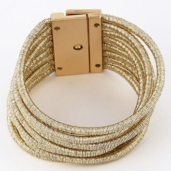 Golden Layers Bracelet