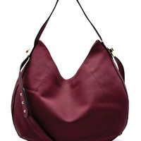 Eva Wine Hobo Handbag