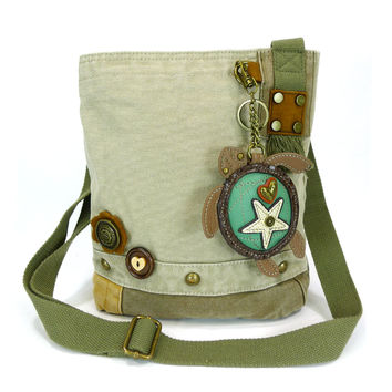 Chala Patch Crossbody Bag+Coin Purse (Turtle)