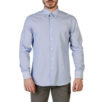 Trussardi Men's Blue Long Sleeve Shirt