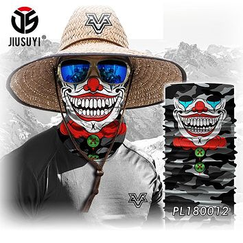 3D Seamless Headband Camouflage Joker Clown Skull Ghost Neck Warmer Face Mask Bandana Headwear Halloween Scarf Hats
