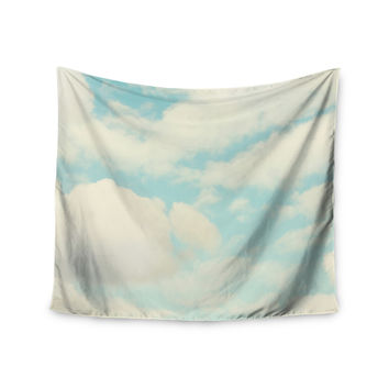 "Sylvia Cook ""Clouds"" Blue White Wall Tapestry"