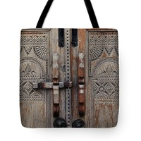 "Wooden Door Tote Bag for Sale by Ivy Ho (18"" x 18"")"