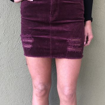 Out For The Night Skirt- Mulberry