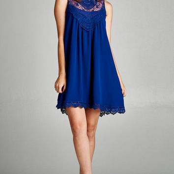 Come Back Here Lace Shift Dress