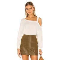 Free People Flaunt It Pullover Ivory