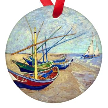 Vincent Van Gogh Art Double Sided Porcelain Ornaments