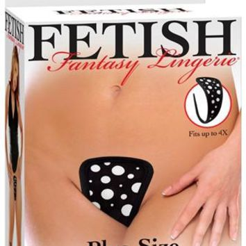 Fetish Fantasy Lingerie Plus Size Strapless Thong Polka Dot