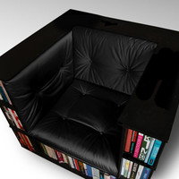 Gentleman's Luxury Library Bookcase Chair - Made to Order