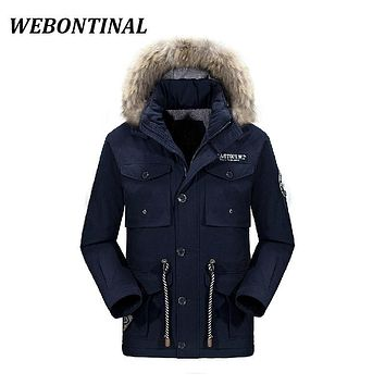 WEBONTINAL Padded Men Parkas Male Brand Long Jackets Man Coats Hooded Casual Winter Thick Warm Quality Velvet Outerwear Zipper