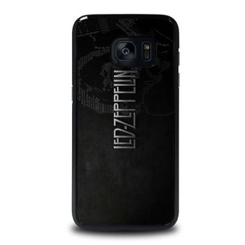 led zeppelin lyric samsung galaxy s7 edge case cover  number 1