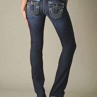 Womens Billy Sea Blue Bartack Super T Jean - (Lonestar) | True Religion Brand Jeans