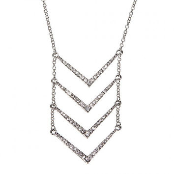 Multirow Angle Choker Necklace