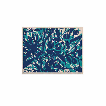 """Patternmuse """"Inky Floral Navy"""" Blue Teal Painting KESS Naturals Canvas (Frame not Included)"""