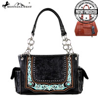 Montana West MW252G-8085 Concho Concealed Carry Handbag