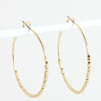 Small Beaded Hoops Gold