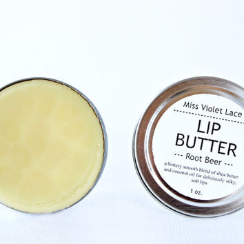 root beer LIP BUTTER. 100% natural lip balm / lip cream - root beer