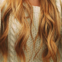 "Ready to Ship - 22"" Inch Strawberry Blonde Clip In Hair Extensions"
