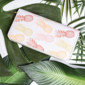 Sweet Spring Pineapple Print Wallet (White)