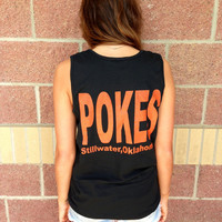 OSU pokes Stillwater comfort colors tank top
