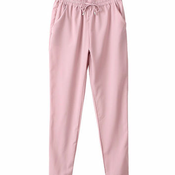 Business Casual Harem Pants - Pink