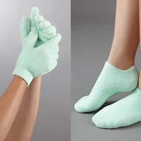 Moisturizing Glove and Bootie Set  @ Sharper Image