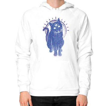 Trippy Kitty  flower of life edition Hoodie (on man)