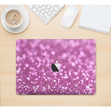 "The Pink Unfocused Glimmer Skin Kit for the 12"" Apple MacBook"