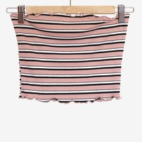 Striped Tube Top - Dusty Pink
