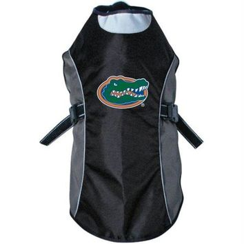 DCCKT9W Florida Gators Water Resistant Reflective Pet Jacket